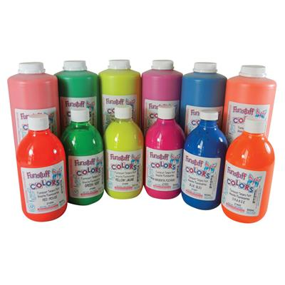*Fluorescent Washable Tempera Paint, 1 L, Red