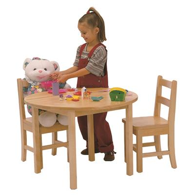 "Table and Chair Set, 28"", Round, Maple, School Age"