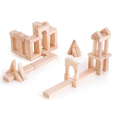 Hardwood Unit Blocks Classroom Set 2, 218 Pieces