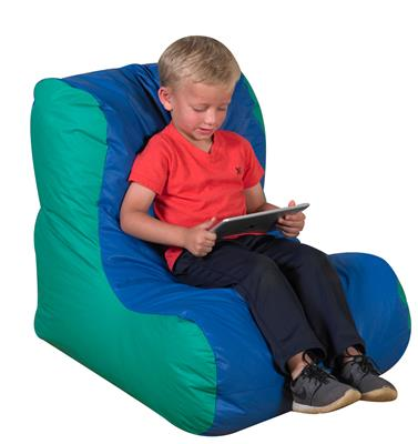 School Age Highback Seating, Blue/Green