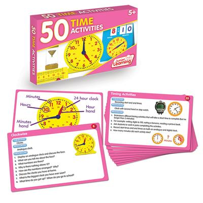 Time Activity Cards, Set of 50