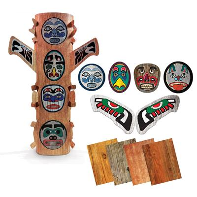 Peel and Stick Totem Poles