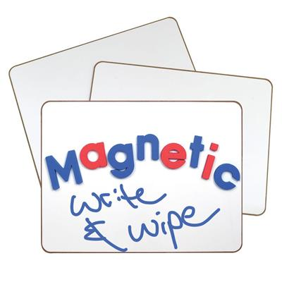 "2-Sided Magnetic Write and Wipe Boards, 9"" x 12"", White, Set of 10"