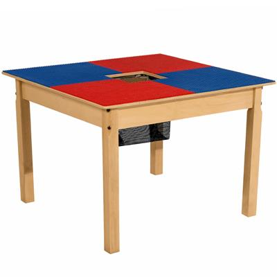 "Time-2-Play LEGO Compatible Table, Blue and Red, 20"" High"