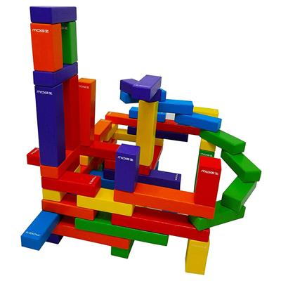 Magnetic Wooden Bricks, 60 Pieces