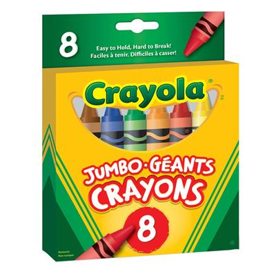 Crayola Jumbo Crayons, Set of 8