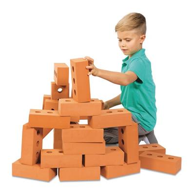 Foam Brick Building Blocks, 25 Pieces