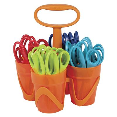 Fiskars Scissors Classpack Caddy, Pointed Tip, 24 Pieces