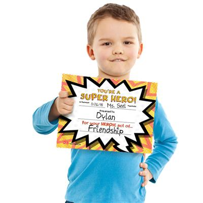 Super Hero Certificate