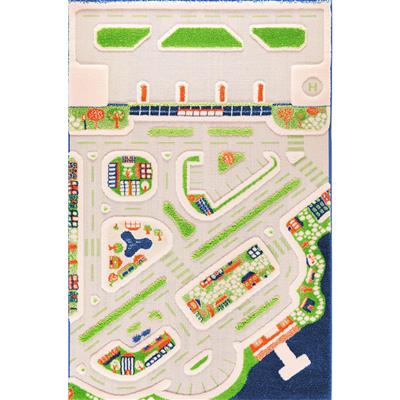 Mini City 3D Play Rug, Primary
