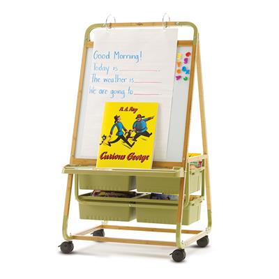 Single Sided Teaching Easel, Bamboo