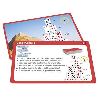 Playing Card Activity Cards, Set of 50