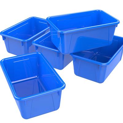 Cubby Bins, Small, Blue, Set of 5