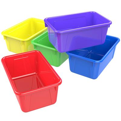 Cubby Bins, Small, Assorted, Set of 5