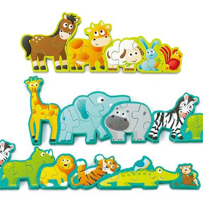 Animal Parade Chunky Puzzles, Set of 3