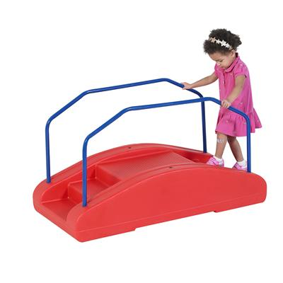 Rocker/Toddler Bridge with Rails, Red