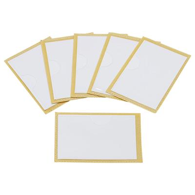 "Label Pockets with Adhesive Backing, 3"" x 5"", Set of 4"