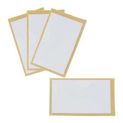 "Label Pockets with Adhesive Backing, 2"" x 3"", Set of 6"