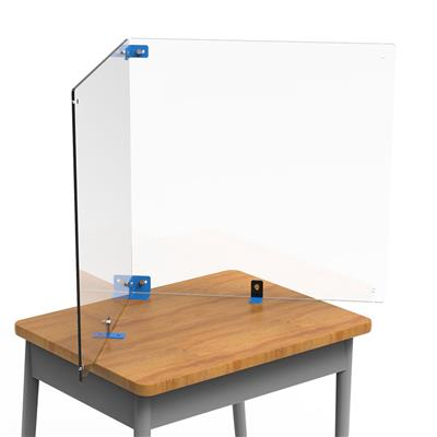 Table Divider Kit, L-Shaped, , Dry Erase, Clear