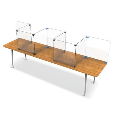 Table Divider Kit, Dry-Erase, Rectangular, Clear