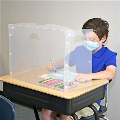 Personal Space Desk Divider, Translucent, Set of 12