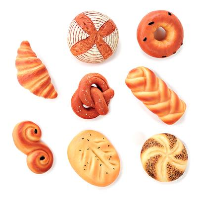 Sensory Play Stones, Breads of the World, 8 Pieces