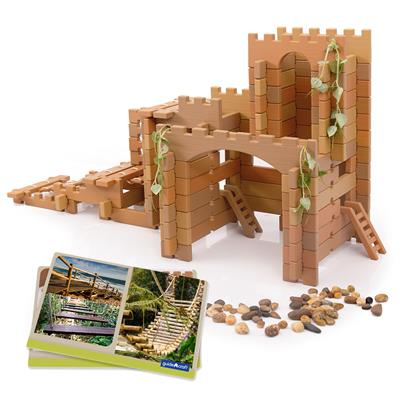 Tabletop Notch Blocks, Western Set, 129 Pieces