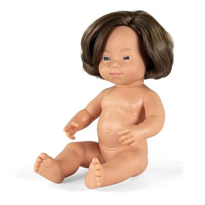 "Down Syndrome Baby Doll, Girl, 15"", Caucasian"