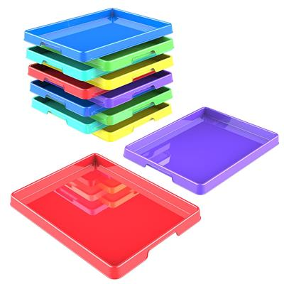 "Sorting & Crafts Tray, 12"" x 16"", Assorted Colours, Set of 12"