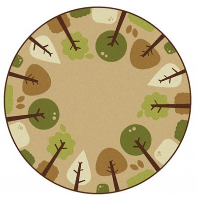 Tranquil Trees, 6', Round, Tan