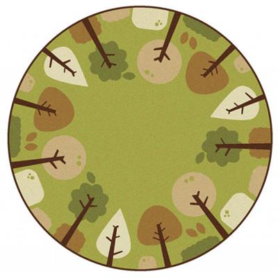 Tranquil Trees, 6', Round, Green