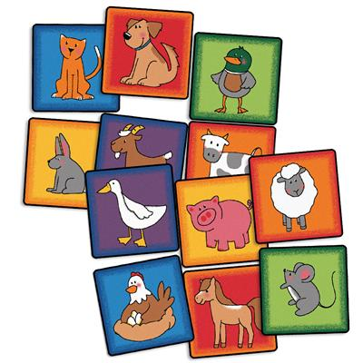 "Farm Animal Seating Kit, 16"" x 16"", Square, Set of 12"