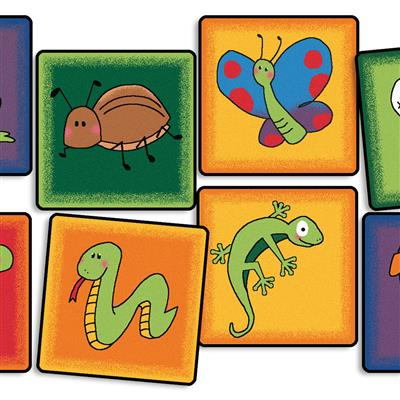"Friendly Critters Seating Kit, 16"" x 16"", Square, Set of 12"