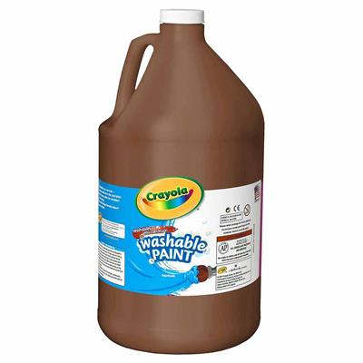 Crayola Washable Tempera Paint, 3.8 L, Brown