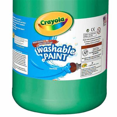 Crayola Washable Tempera Paint, 3.8 L, Green