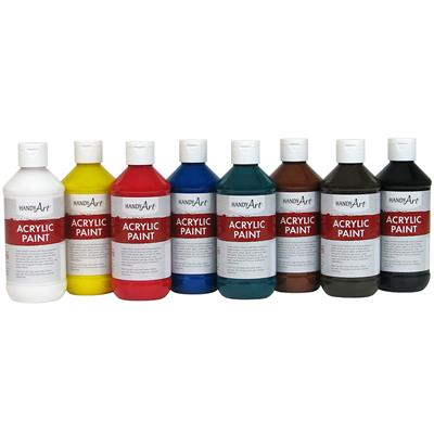 Acrylic Paint, 237 ml, Assorted, Set of 8