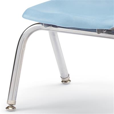 "Berries Stacking Chair, Chrome Legs, 12"" Seat Height, Coastal Blue"