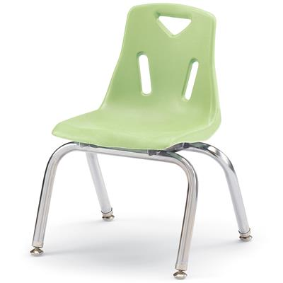 "Berries Stacking Chair, Chrome Legs, 12"" Seat Height, Key Lime"
