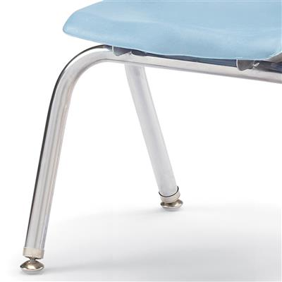 "Berries Stacking Chair, Chrome Legs, 14"" Seat Height, Coastal Blue"