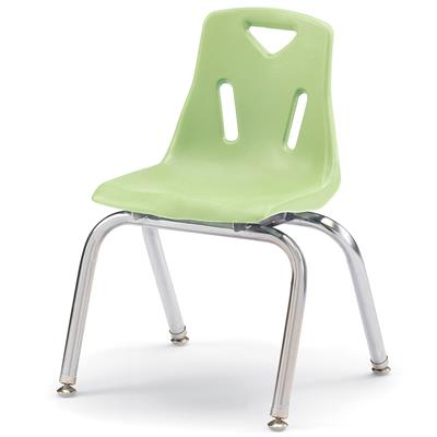 "Berries Stacking Chair, Chrome Legs, 14"" Seat Height, Key Lime"