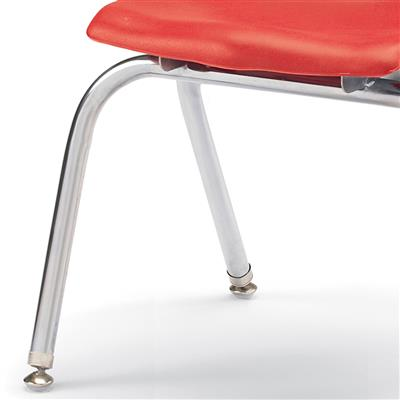 "Berries Stacking Chair, Chrome Legs, 16"" Seat Height, Red"
