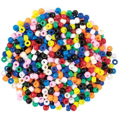 Pony Beads, Bright Hues, 1,000 Pieces