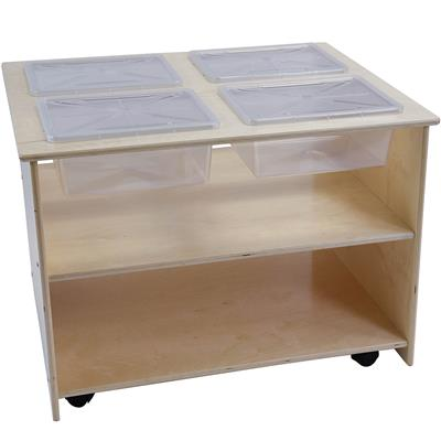Mobile Sensory Table with Trays