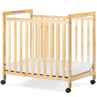 SafetyCraft Fixed-Side Compact Clearview Mobile Crib, Natural