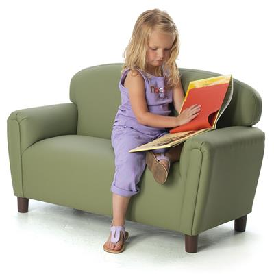 Enviro Upholstered Couch, Preschool, Sage