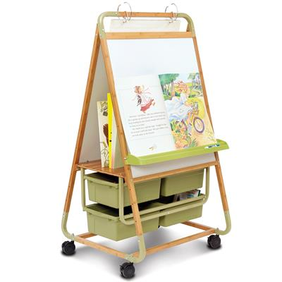Double-Sided Teaching Easel, Bamboo