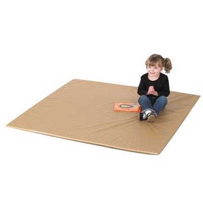 "Two Tone Activity Mat, 52"" x 52"", Walnut and Almond, 1"""