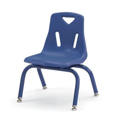 "Berries Stacking Chair, 10"" Seat Height, Blue"
