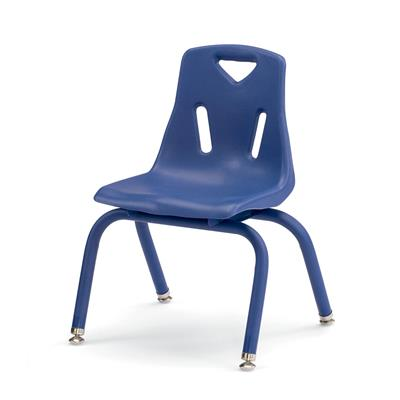 "Berries Stacking Chair, 12"" Seat Height, Blue"