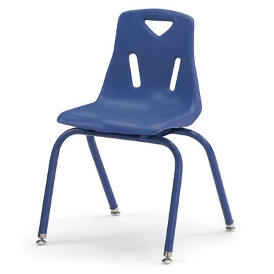 "Berries Stacking Chair, 16"" Seat Height, Blue"